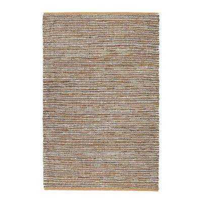 North and Damen Tan 4 ft. x 6 ft. Area Rug