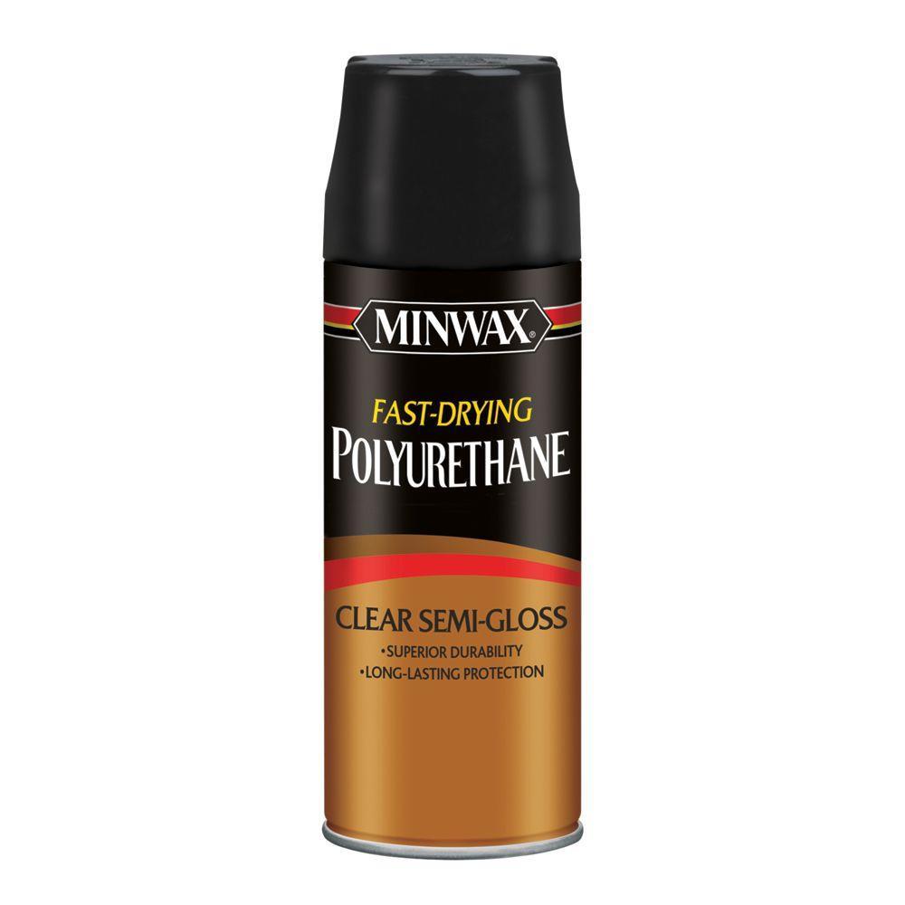 11.5 oz. Semi-Gloss Fast-Drying Polyurethane Aerosol Spray (6-Pack)