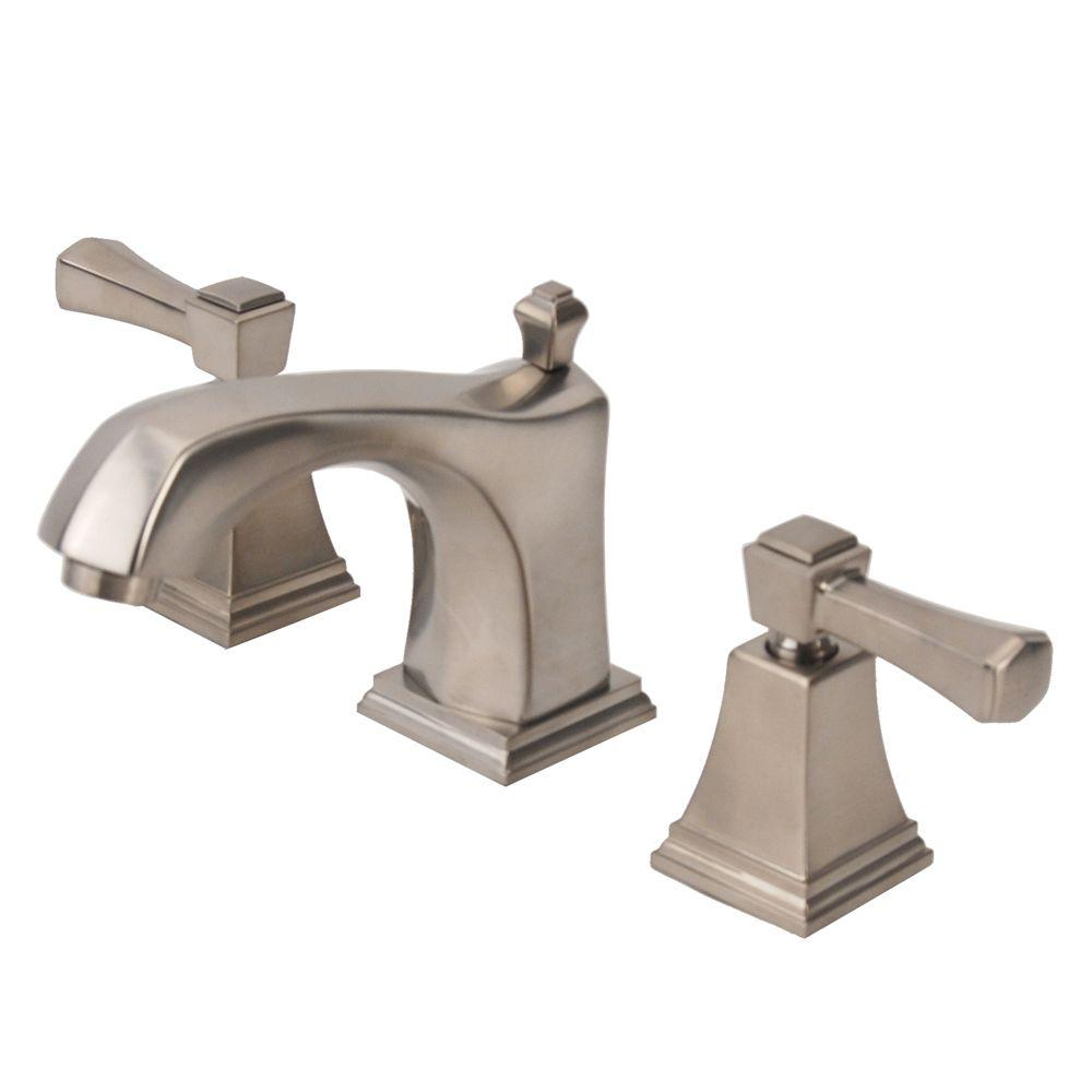 Fontaine Patera 8 in. Widespread 2-Handle Low-Arc Bathroom Faucet in Brushed Nickel with Drain Assembly-DISCONTINUED
