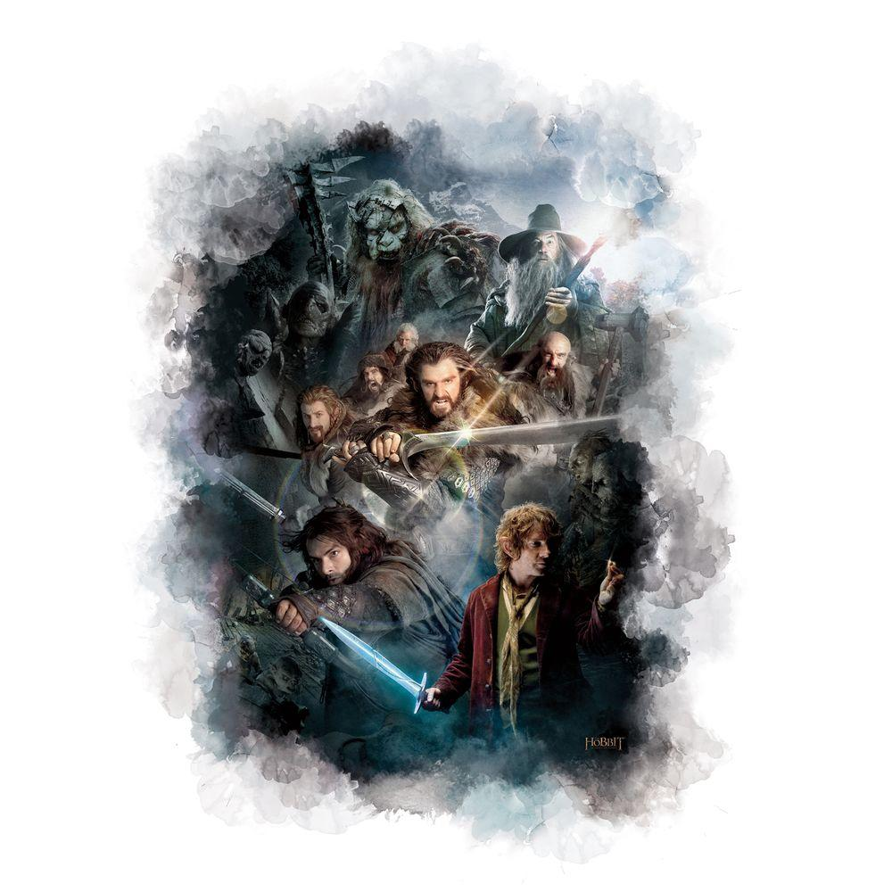 null 27 in. x 40 in. The Hobbit Cast Ensemble Wall Graphix