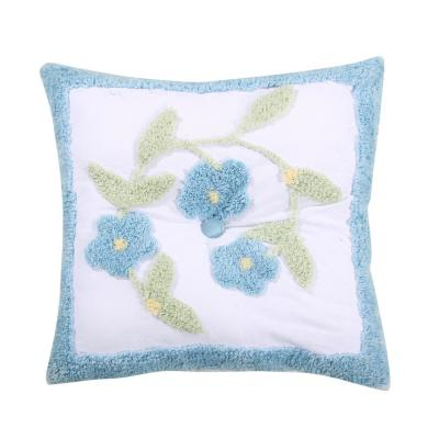 BLOOMFIELD 18 in. Square Blue Pillow