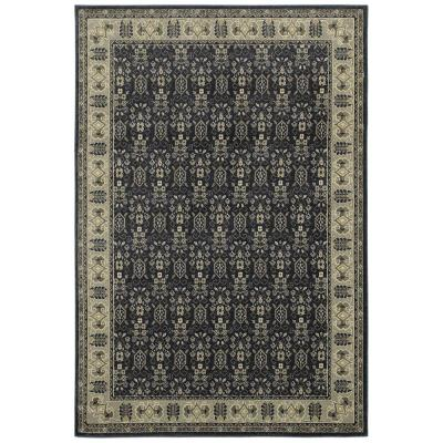 Gianna Indigo 8 ft. x 10 ft. Border Area Rug