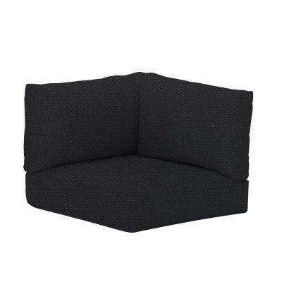 Commercial Sunbrella Canvas Raven Black Left Arm, Right Arm or Corner Outdoor Sectional Cushion