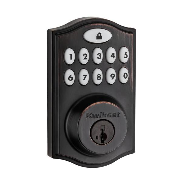 Z-Wave SmartCode 914 Venetian Bronze Single Cylinder Electronic Deadbolt Featuring SmartKey Security