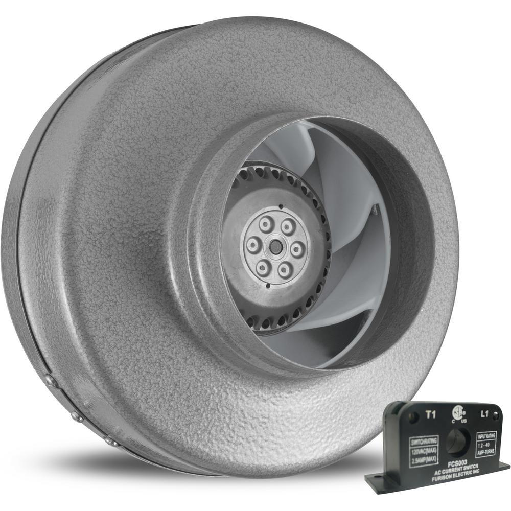 Powerfan 5 in. 255 CFM Inline Fan with Current Sensor
