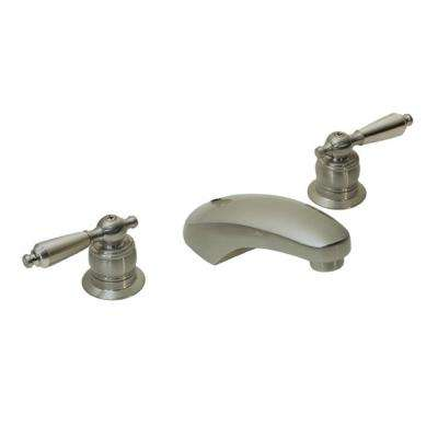 Origins 8 in. Widespread 2-Handle Bathroom Faucet in Satin Nickel