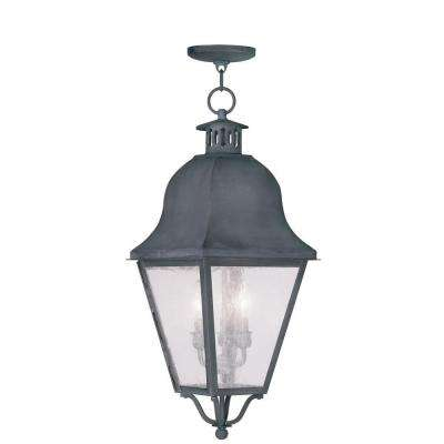 Providence 3-Light Charcoal Outdoor Incandescent Hanging Lantern