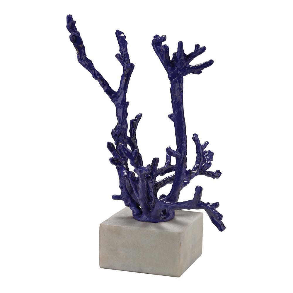 Staghorn 10 in. Coral Decorative Sculpture in Purple