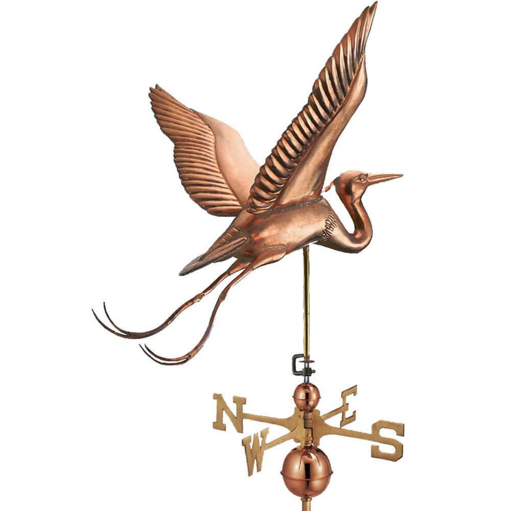 Good Directions Blue Heron Estate Weathervane - Pure Copper