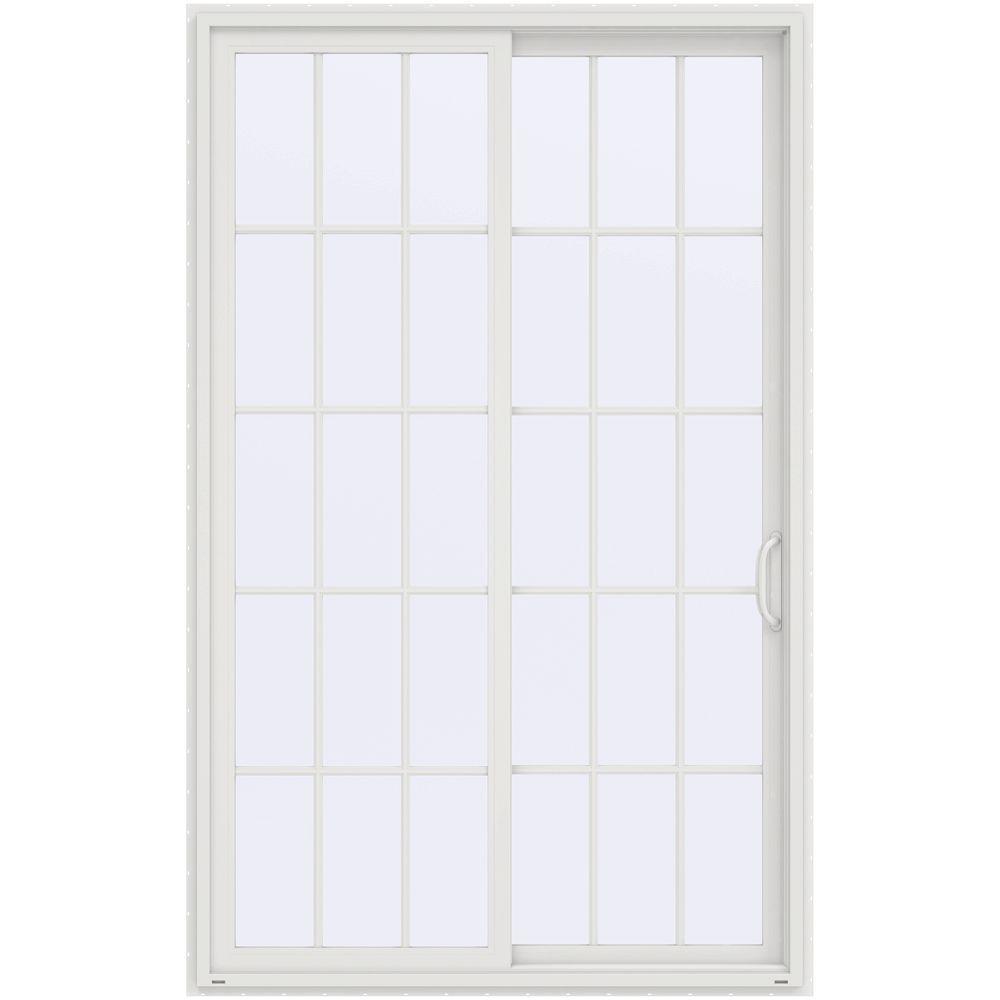 60 in x 96 in v 4500 contemporary white vinyl right hand - 60 Patio Door