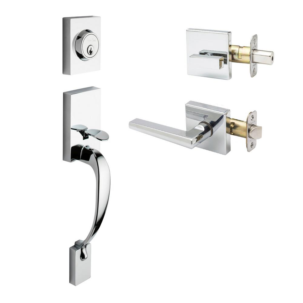 Fashion Polished Stainless Door Handleset and Verona Lever Trim
