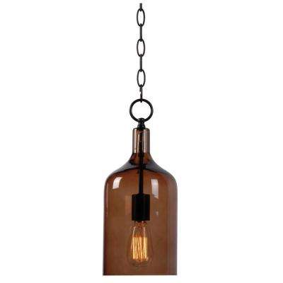 Capri 1-Light Amber Glass Mini Pendant