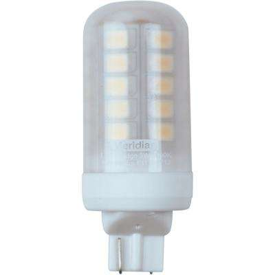 20-Watt Equivalent Bright White T5 Wedge Base LED Light Bulb