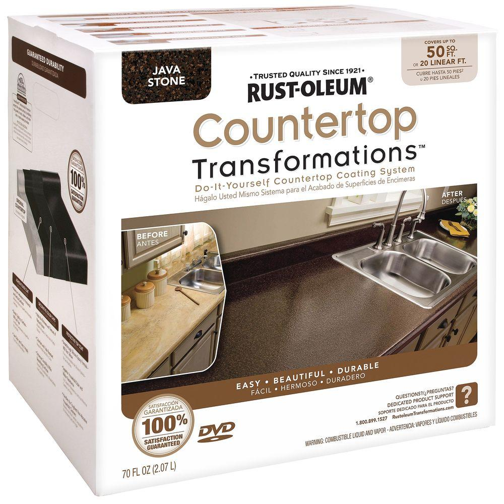 Rust-Oleum Transformations 70 oz. Java Stone Large Countertop Kit