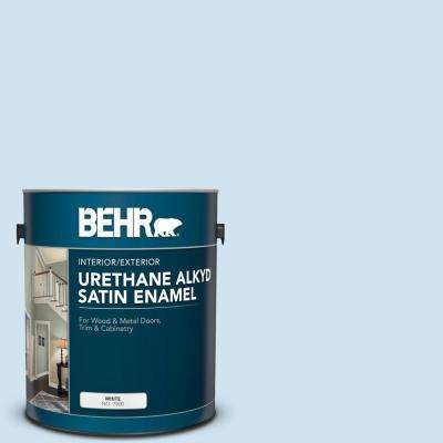 1 gal. #M520-1A Soft Cloud Urethane Alkyd Satin Enamel Interior/Exterior Paint