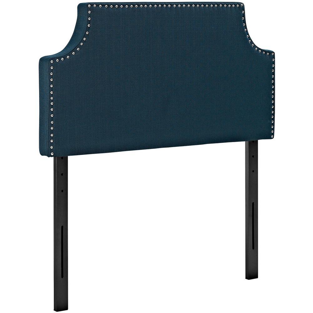 Laura Azure Twin Upholstered Fabric Headboard