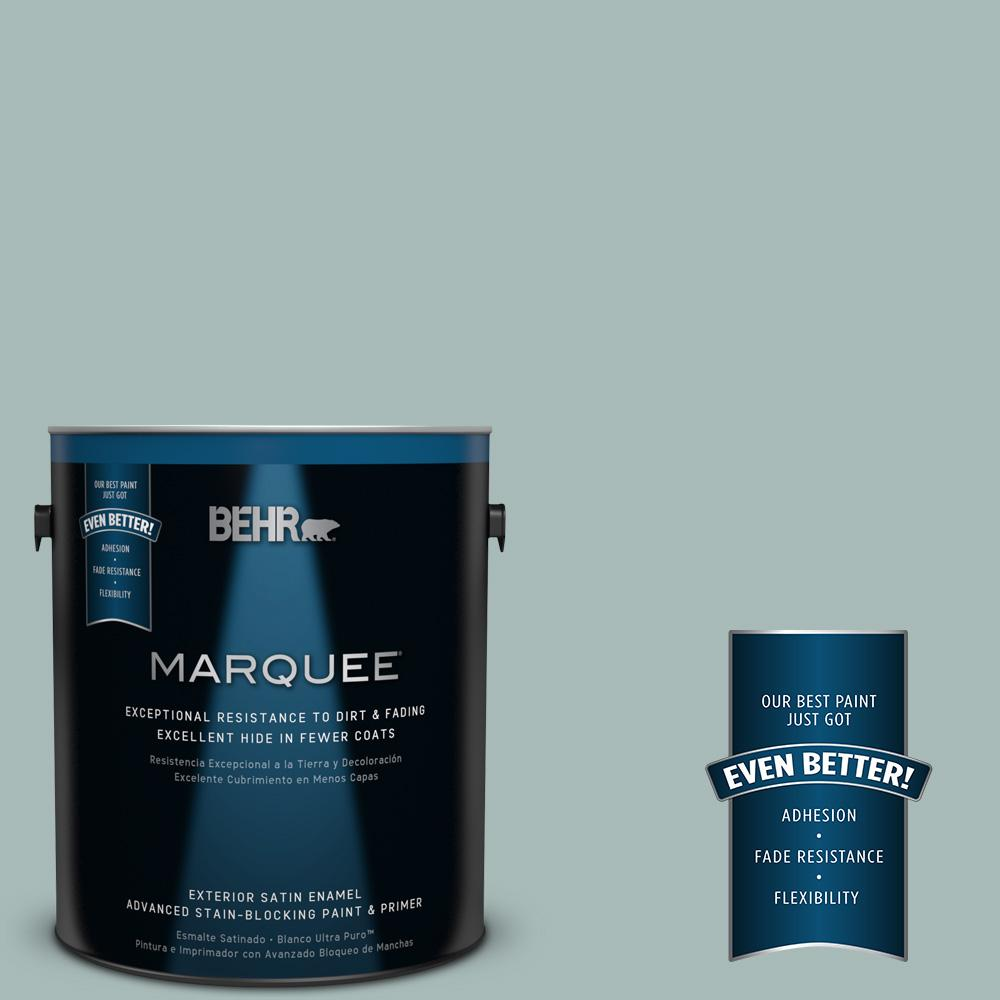 BEHR MARQUEE 1-gal. #QE-43 Water Surface Satin Enamel Exterior Paint