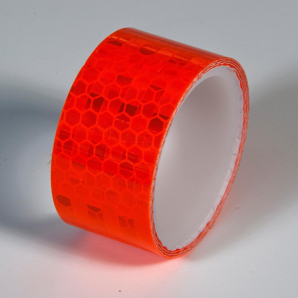 1 in. x 24 in. Super Brite Reflective Tape Fluorescent Orange