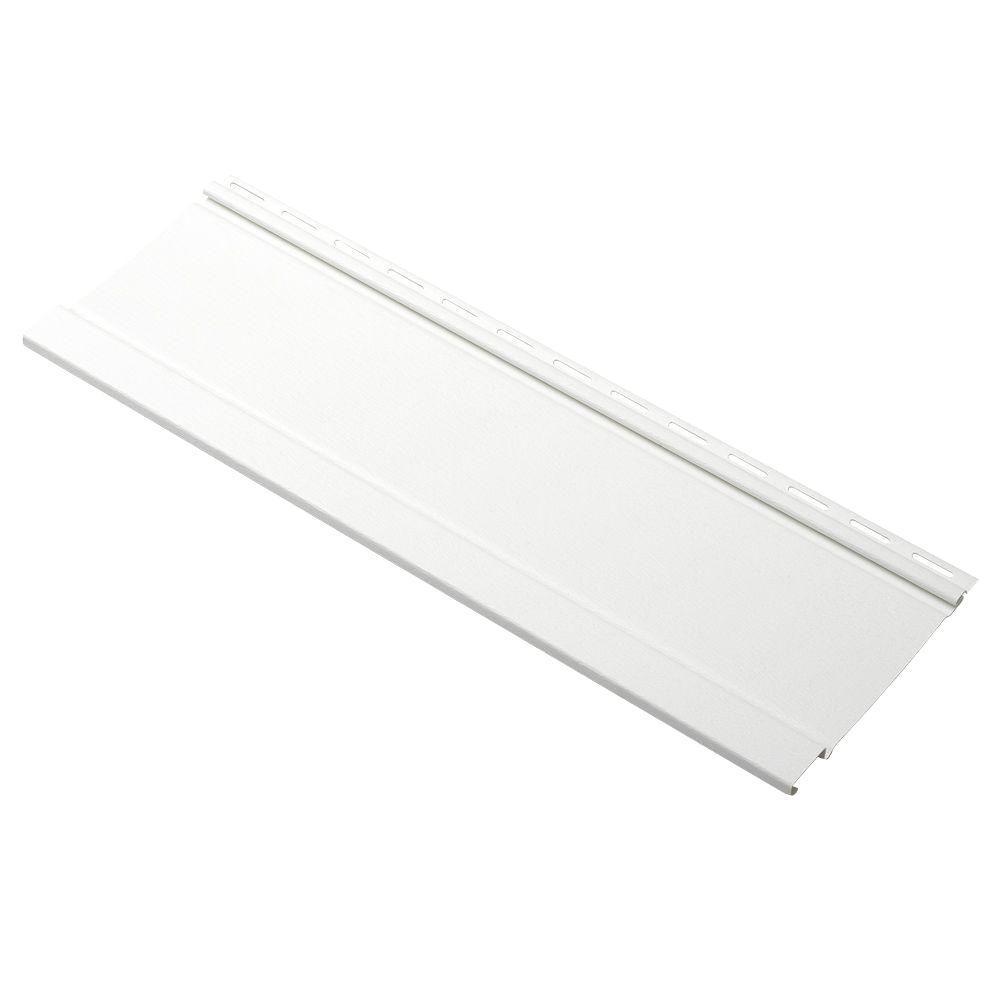 Board and Batten 24 in. Vinyl Siding Sample in White