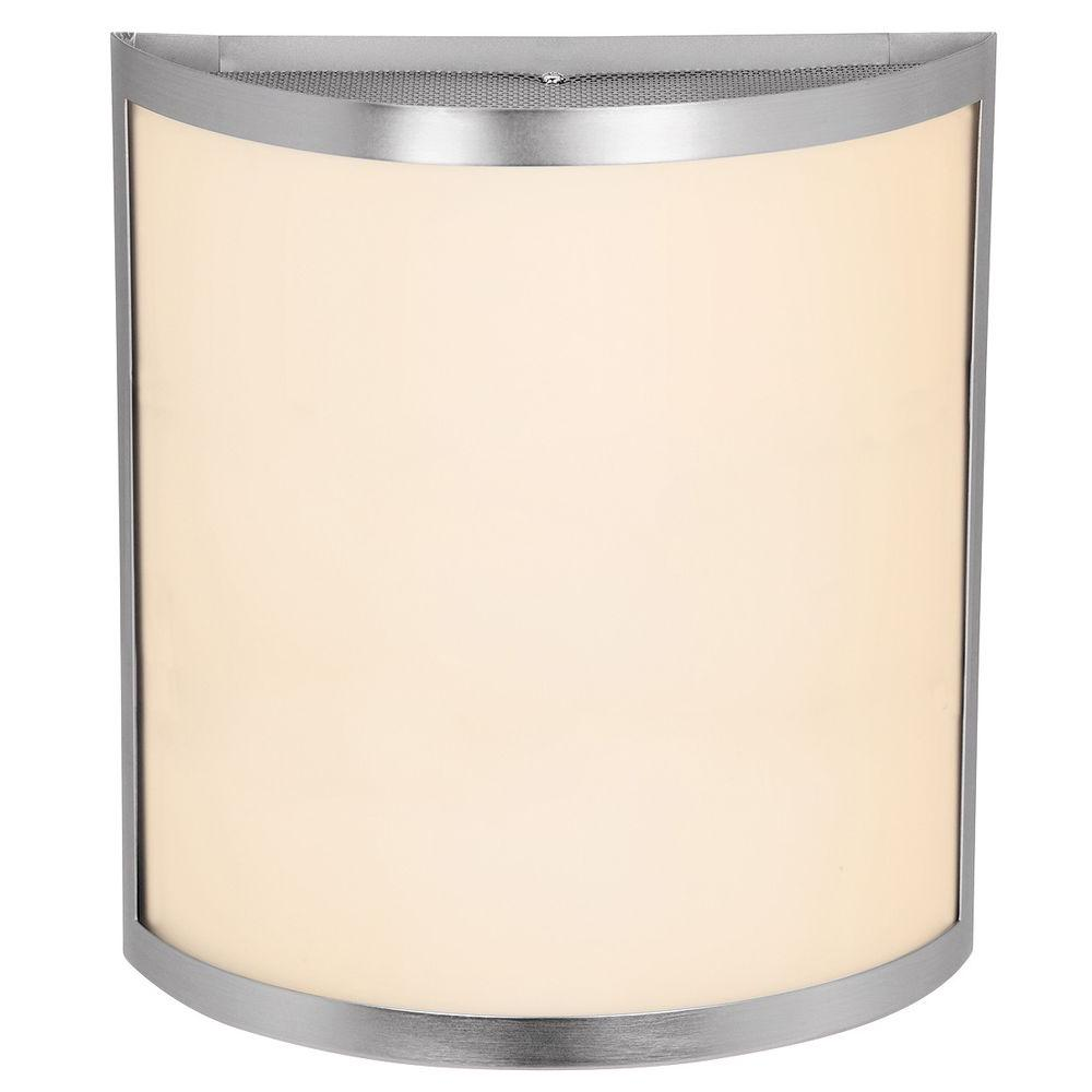 Artemis 1 Light Brushed Steel LED Sconce with Opal Glass Shade