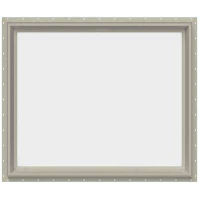 35.5 in. x 29.5 in. V-2500 Series Fixed Picture Vinyl Window - Tan