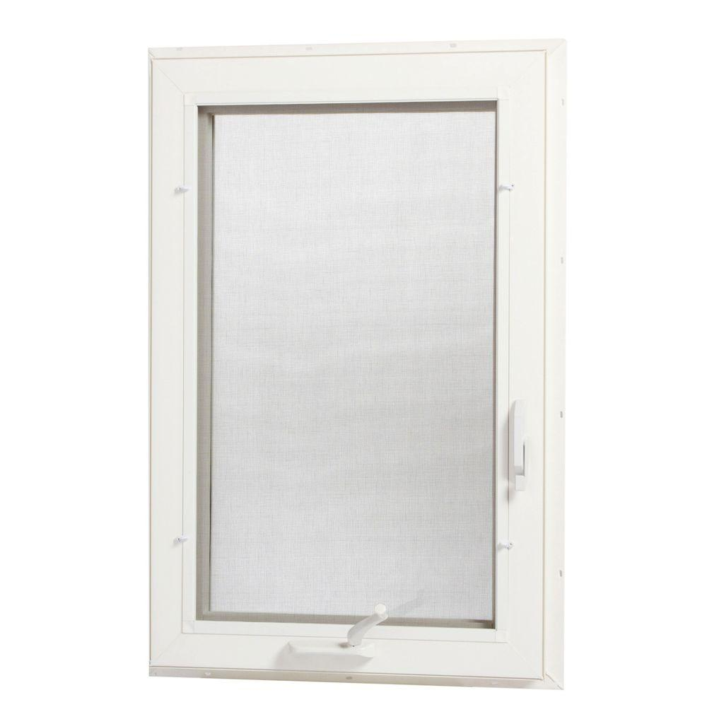24 in. x 48 in. Left-Hand Vinyl Casement Window with Screen