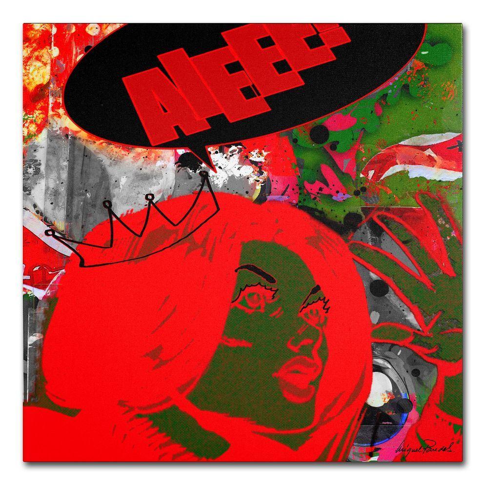 24 in. x 24 in. Drama Queen Canvas Art