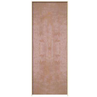 Smooth Flush Hardwood Hollow Core Birch Veneer Composite Single Prehung Interior  Door