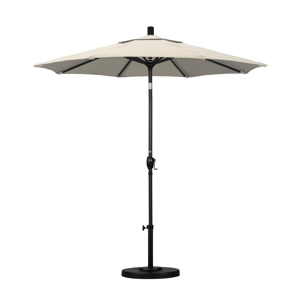 7-1/2 ft. Fiberglass Push Tilt Patio Umbrella in Antique Beige Olefin