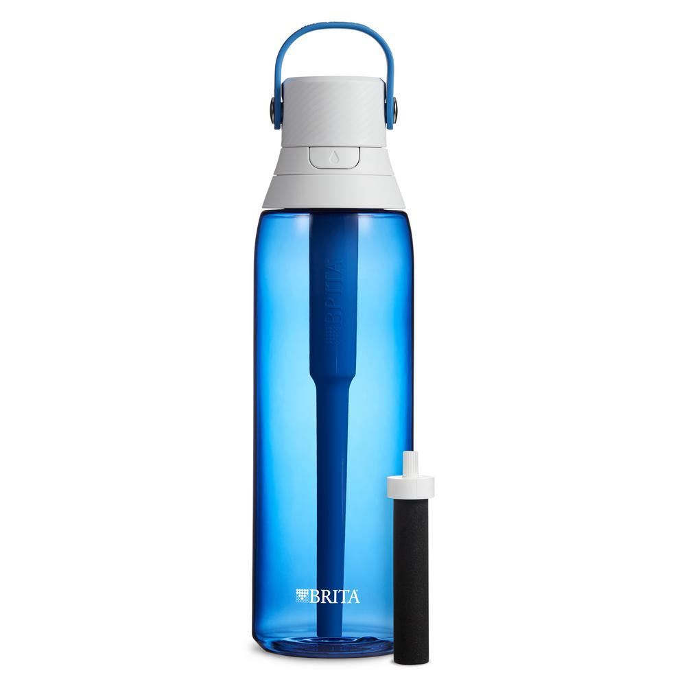 Premium 26 oz. Sapphire Filtering Water Bottle, BPA Free