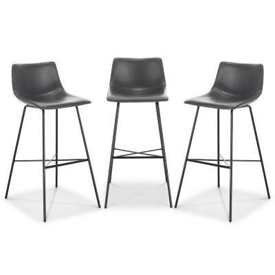 Paxton 29 Bar Stool in Grey (Set of 3)
