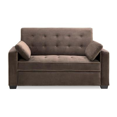 Augustus Serta Pullout Java Queen Sized Sofa