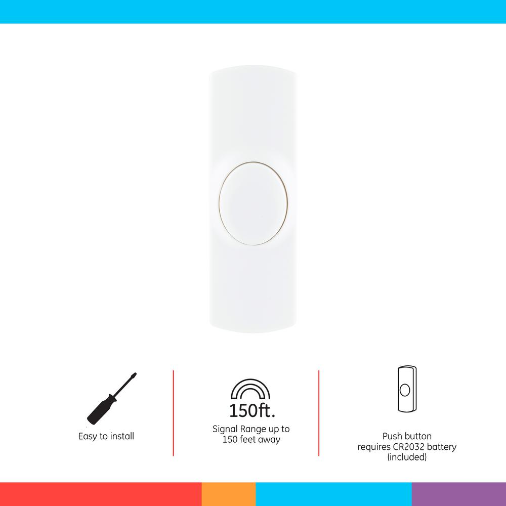 White Wired Easy Installed Electronic Door Bell STUK
