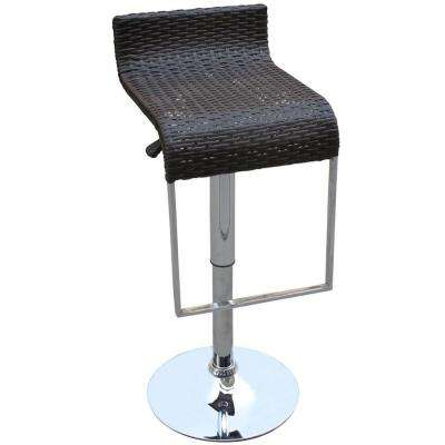 LEM 31 in. Espresso Wicker Bar Stool