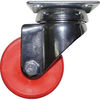 2 in. Cherry Red Swivel Caster with 88 lbs. Load Capacity (4-Pack)