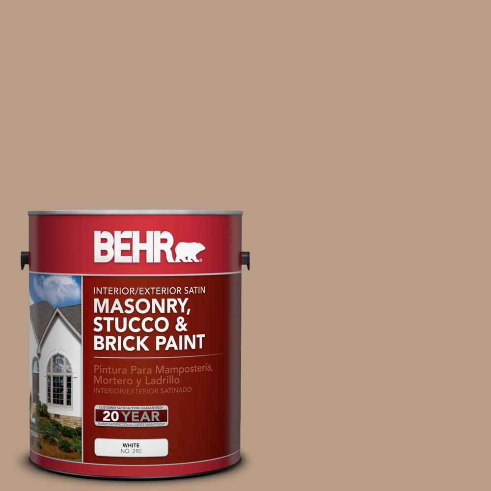 1 gal. #ICC-52 Cup of Cocoa Satin Interior/Exterior Masonry, Stucco and