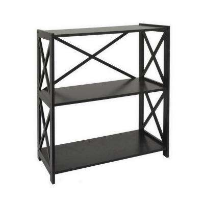 13 in. Black Wood Shelf