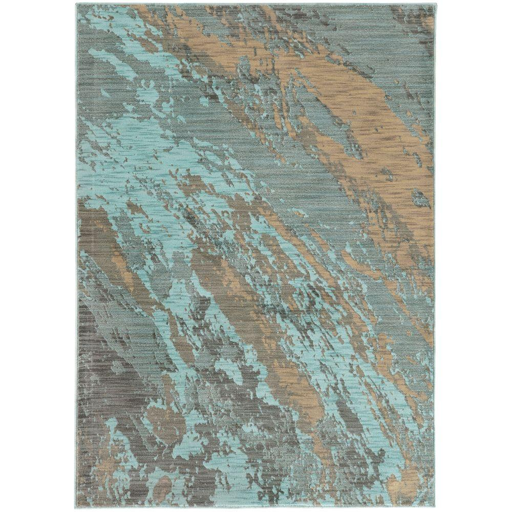 Java Blue 3 ft. 10 in. x 5 ft. 5 in.