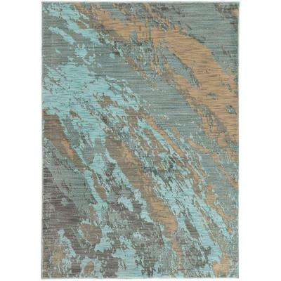 Java Blue 7 ft. 10 in. x 10 ft. 10 in. Area Rug