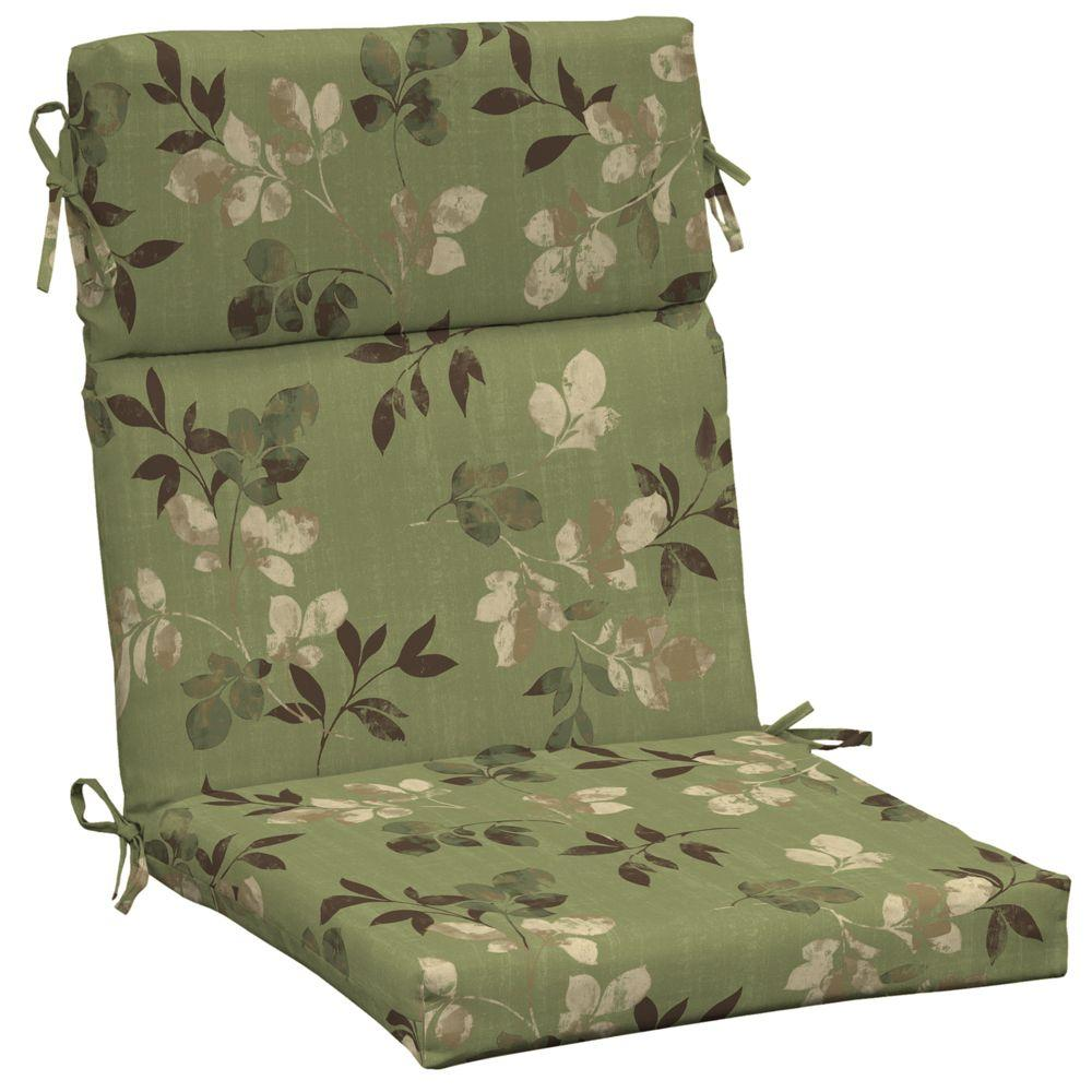 Hampton Bay Parson High Back Outdoor Chair Cushion-DISCONTINUED