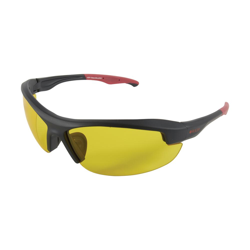 1cc23ff99b3 Core Ballistic Shooting Glasses with Yellow Lens in Black and Red Frames