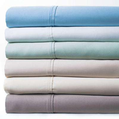 Green 1000 Count Cotton Sateen Queen Sheet Set (4-Piece)