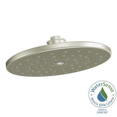Waterhill 1-Spray 10 in. Eco-Performance Rainshower Showerhead Featuring Immersion in Brushed Nickel