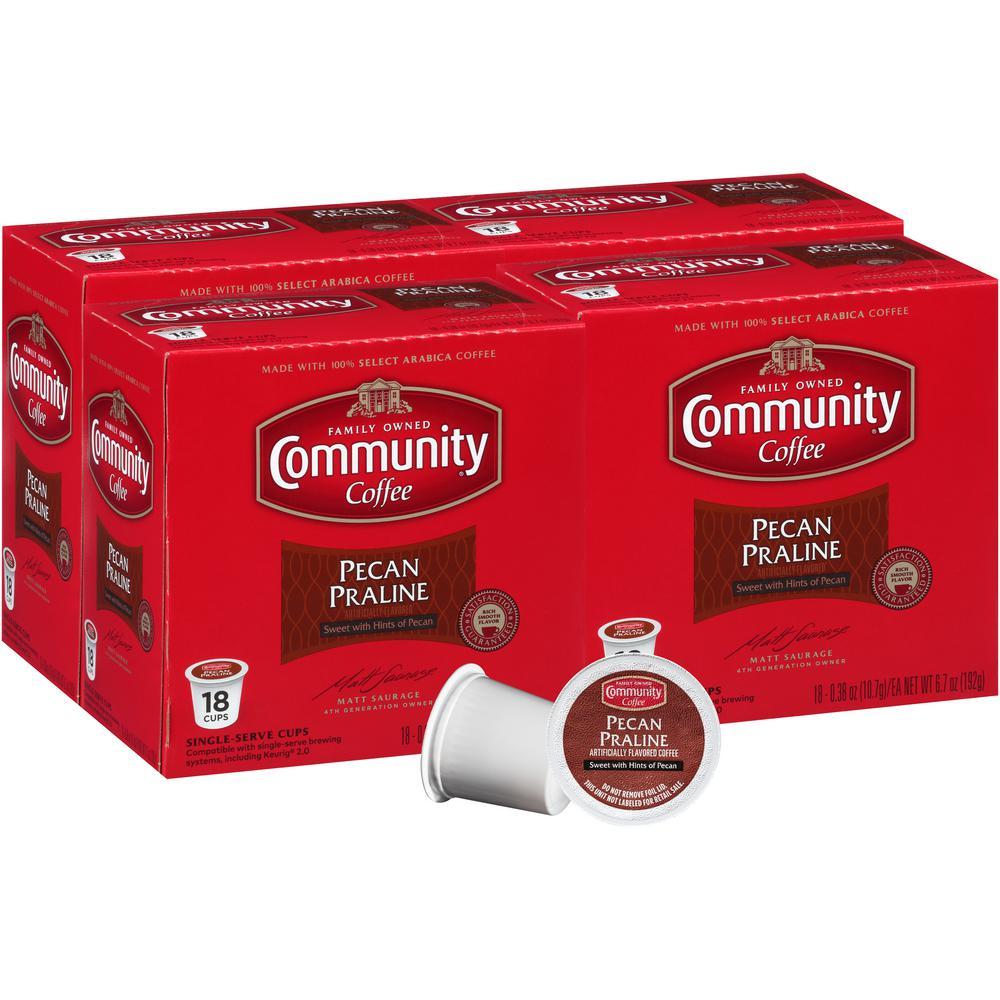 Pecan Praline Medium Roast Coffee Single Serve Cups (72-Pack)
