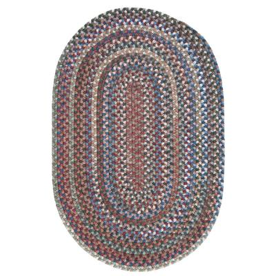 Cage Dusk 8 ft. x 11 ft. Oval Braided Area Rug