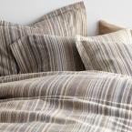 The Company Store Bromley Stripe Taupe King Duvet Cover