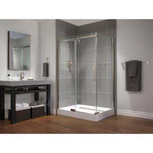 Delta 48 inch x 72 inch Semi-Framed Sliding Shower Door in Stainless by Delta