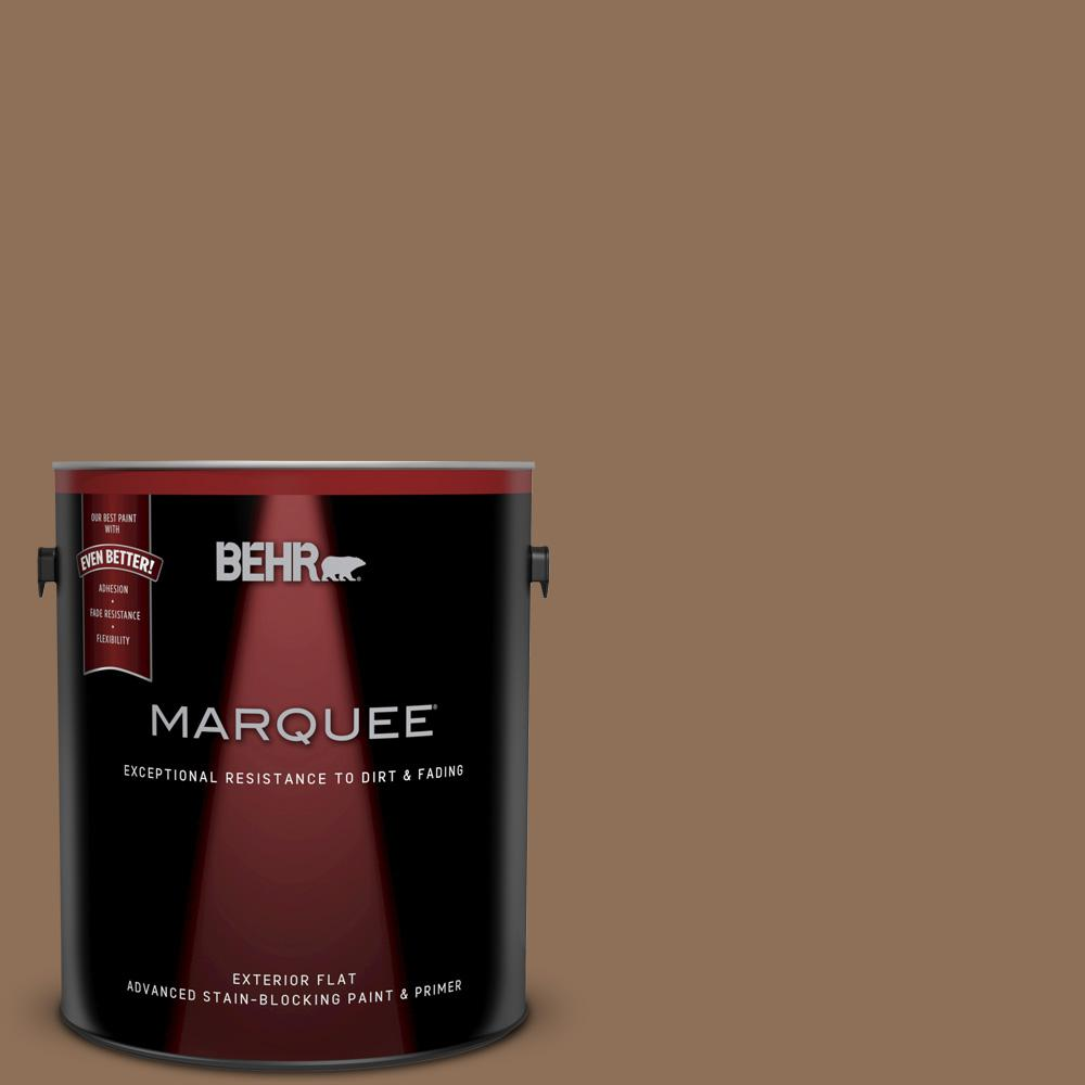 1 gal. #250F-6 Pepper Spice Flat Exterior Paint and Primer in