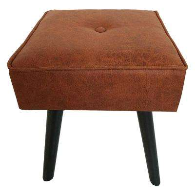 Robin Brown Foot Stool with Wooden Legs
