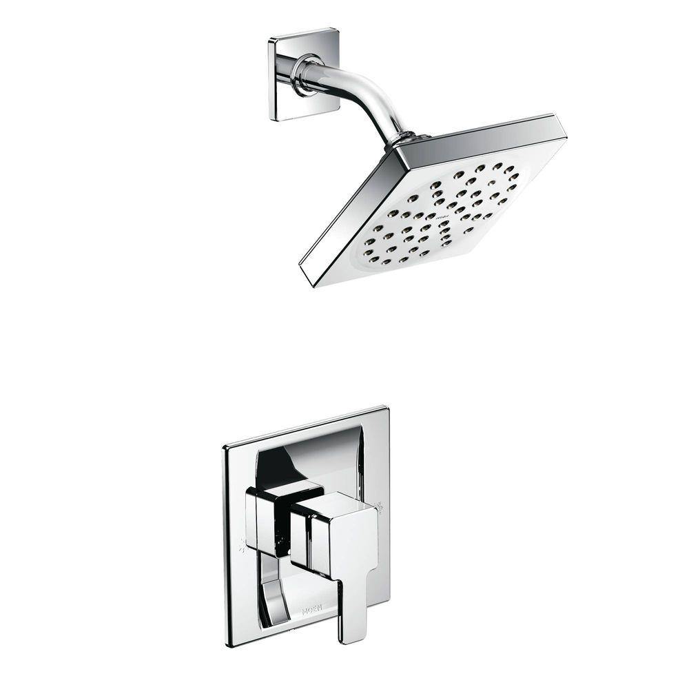 MOEN 90 Degree Posi Temp Single Handle 1 Spray Shower Faucet Trim